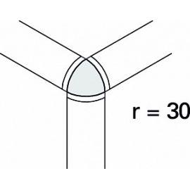 Внешний угол радиальной планки Interbau R3 r30 №781 лазурный