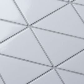 Triangolo White Zip Glossy Homework керамическая мозаика Starmosaic