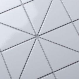 Triangolo White Glossy керамическая мозаика Homework Starmosaic