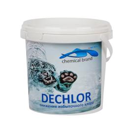 Средство для бассейна от хлора Дехлор в гранулах (тиосульфат натрия) для удаления избыточного хлора.