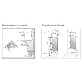 Установочная схема - Delta D23E Steel электронагреватель для сауны