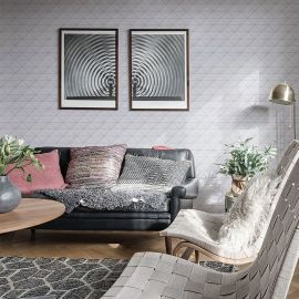Triangolo White Zip Glossy Homework керамическая мозаика Starmosaic в интерьере
