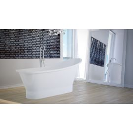Отдельностоящая ванна Gloria 150 Besco из литьевого мрамора.