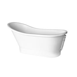 Ванна отдельностоящая из литьевого мрамора Gloria 150 от Besco вид сбоку.