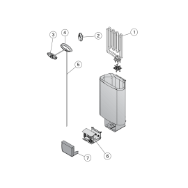Устройство Delta D23E Steel электронагреватель для сауны