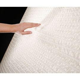 2545-A Ondulato неровная стеклянная мозаика с волнистым эффектом белого цвета