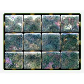 Mint Ondulato неровная стеклянная мозаика Ezarri