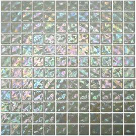 Snow Ondulato неровная стеклянная мозаика с волнистым эффектом и перламутровым покрытием