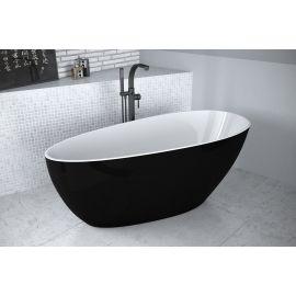 Черная отдельностоящая ванна Goya B&W 160 из литого мрамора.