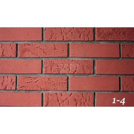 Литобрик 1-4 красный гибкий кирпич для фасадов и интерьеров