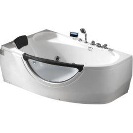 Ванна Gemy G9046 II6 II K L с мультимедиа и с белым подголовником - вид сбоку.