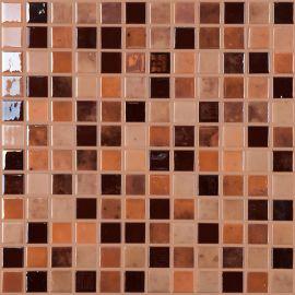 Lux 406 коричневый микс Chocolate высокоглянцевой мозаики Vidrepur