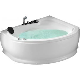Ассиметричная ванна с гидромассажем Gemy -  вид сбоку.