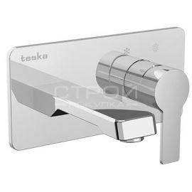 Quasar E-51100 смеситель для раковин с хромированной панелью турецкого производителя Teska