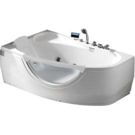 Ванна Gemy G9046 II K L с мультимедиа и с белым подголовником.