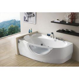 Акриловая ванна Gemy G9046 II K L с мультимедиа и с белым подголовником.