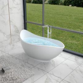 Интерьер с отдельностоящей крутой ванной NSB-17810 из полистона.