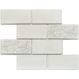 Декор серый серии Rustic PQ73150-07 7.3х15 см фабрики NS Mosaic