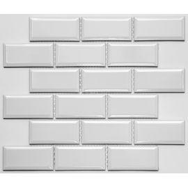 Белая мозаика Rustic PR4595-31 NS Mosaic  4,5х9,5 см на сетке