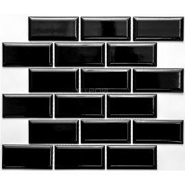 Черная мозаика Rustic PR4595-32 NS Mosaic  4,5х9,5 см на сетке