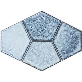 Мозаика голубая Rustic R-308 NS-Mosaic керамическая пятиугольная