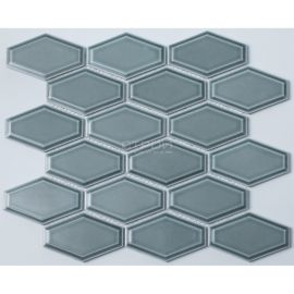Серо-голубая керамическая мозаика R-317 NsMosaic серии Rustic