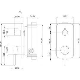 Душевой комплект Agora Teska с хромированной панелью турецкого завода Teska