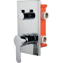 BTK D031 смеситель скрытого монтажа с переключателем ванна/душ хром 3-х ходовой вентиль