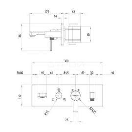 Душевой комплект Enjoy AS 3101 Teska со смесителем скрытого монтажа на 3 режима