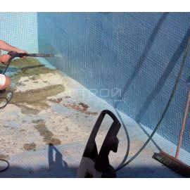 Очистка мозаики от камня средством  для уборки после ремонта Kenaz.