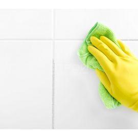 Очищение извести в межплиточных швах кислотным очистителем МП-Очиститель К.