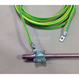 Провод ПВ-3 (ПУГВ) 1х16 мм2 в соединении с электродом.