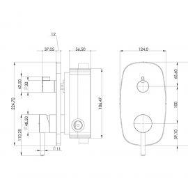 Душевой комплект Sardes Teska с хромированной панелью турецкого завода по запатентованной технологии