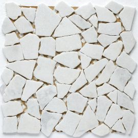 Мозаика Split White Matt Wild Stone из мрамора