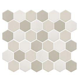 Противоскользящая мозаика JMT31955 Hexagon small LB Mix антислип с чипом 51x59 мм