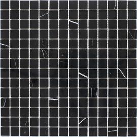 Мозаика Black Polished (JMST034) 20x20 мм из натурального мрамора из коллекции Wild Stone с полированной поверхностью