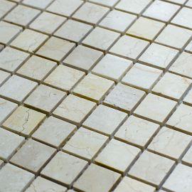 Мозаика Crema Marfil Polished (JMST033) 20x20 мм из натурального мрамора из коллекции Wild Stone