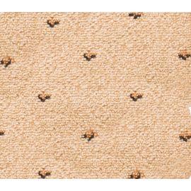 Фактура бежевых ковровых накладок Барс на ступеньки.
