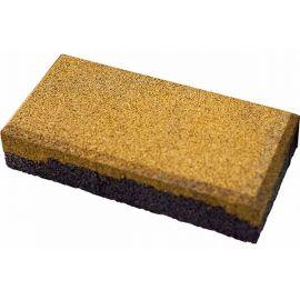 Резиновая брусчатка Кирпич 20х10х4 см желтая
