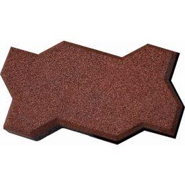 Резиновая брусчатка Волна 22х13х4 см коричневого цвета