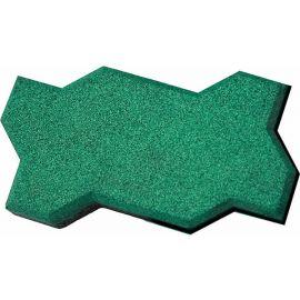 Резиновая брусчатка Волна 22х13х4 см из зеленой резиновой крошки