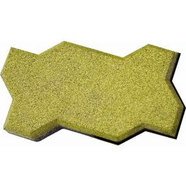 Резиновая брусчатка Волна 22х13х4 см желтая