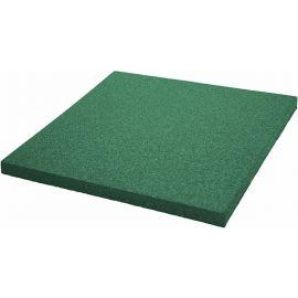 Плитка из резиновой крошки 50х50х1.6 см Comfort зеленая