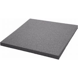 Плитка из резиновой крошки 50х50х4 см Comfort серая