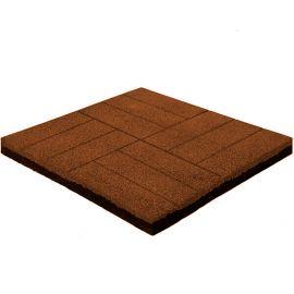 Резиновая плитка Кирпич 50х50х4 см коричневая