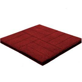 Резиновая плитка Кирпич 4 см красная