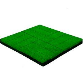 Резиновая плитка Кирпич 50х50х4 см зеленая