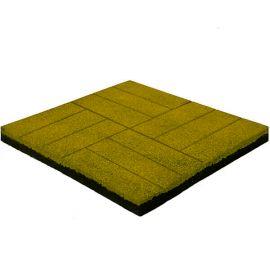 Резиновая плитка Кирпич 50х50х4 см желтая