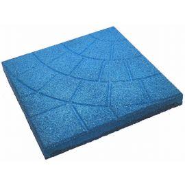 Плитка из резиновой крошки паутинка голубой, 30 мм