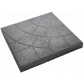 Плитка из резиновой крошки паутинка серый, 30мм